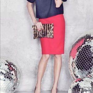 J.crew/ no 2 pencil skirt double serge wool pink